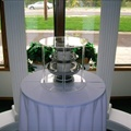 Cake Fountain - Chrome w/Stand