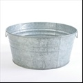 Tub - Galvanized Round